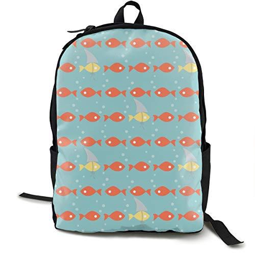 The New Clown Fish Adult Premium Travel Backpack, Water-Resistant College School Bookbag, Sport Daypack, Outdoor Rucksack, Laptop Bag for Men&Women