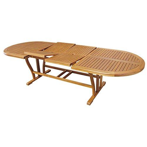 Tavolo in legno acacia gold allungabile 200/300x110cm arredo esterno AC805085DB
