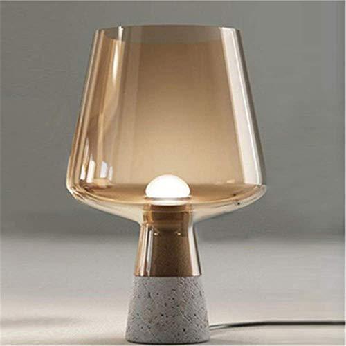 Zement Glas Lampe Bett Kopf dekorative Tischlampe Bernstein -