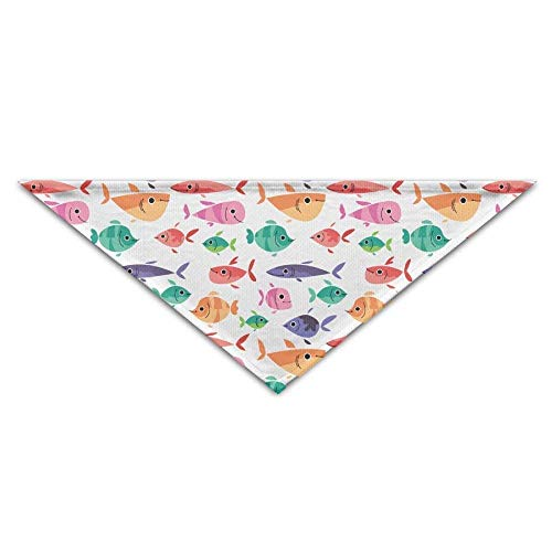Gxdchfj Pet Scarf, Cute Little Fish Triangle Pet Scarf Dog Bandana Pet Collars for Dog Cat - Birthday -