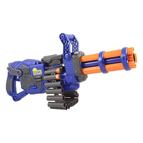 Dart Zone Scorpion Gatling Blaster - Vollautomatischer Flywheel Blaster mit Munitionsgurt und rotierendem Lauf