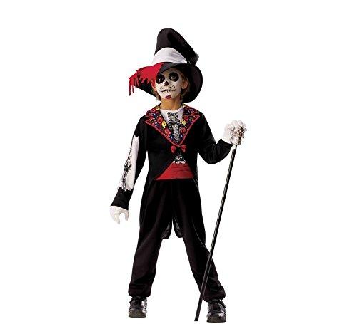 EL Día Los Muertos - Kostüm Catrin Boy Inf, Mehrfarbig (Rubies 700466-L) (El Dia De Los Muertos Kostüme)