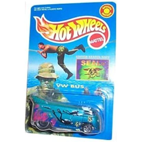 Hot Wheels - VW (Volkwagen) Bus - M&D Toys Limited Edition - U.S. Navy Seals theme and paint graphics [Special Edition]