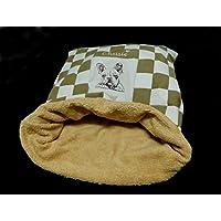 LunaChild Hunde Kuschelhöhle creme hellbraun Hundebett Französische Bulldogge Name Snuggle Bag Größe S M oder L in 14 Farben erhältlich