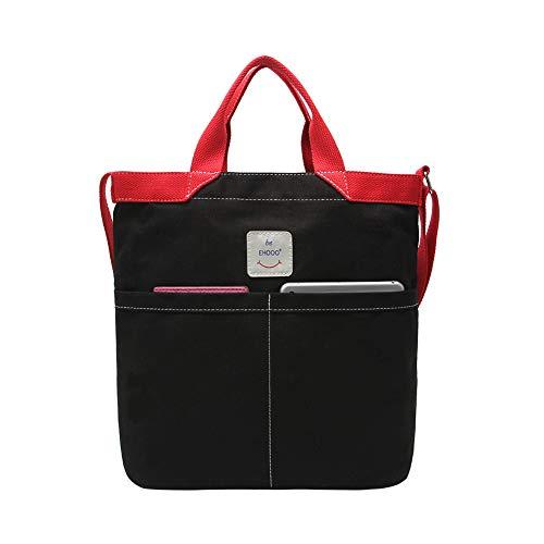 Gindoly Casual Canvas Tasche Handtasche Damen Vintage Umhängentasche Anti Diebstahl Tasche Hobo Tasche für Alltag Büro Schule Ausflug Einkauf - Casual Damen Tasche