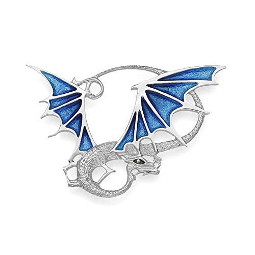 Argento sterling tradizionale Pat Cheney design spilla a forma di drago con...