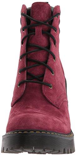 Dr.Martens Womens Persephone 6 Eyelet Nubuck Suede Boots Bordeaux