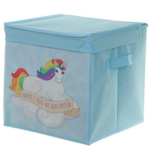 Childrenu0027s Foldable Canvas Rainbow Unicorn Storage Box Great For Toys!