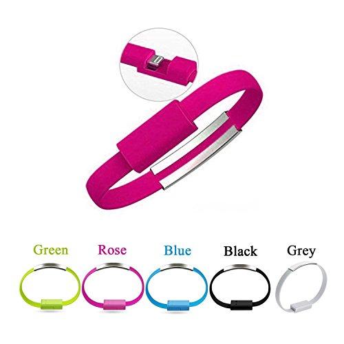 Bestga USB-Ladekabel, Mini, kurz, flach, Armband, Ladekabel, Datenkabel, USB 2.0, für iPhone 6, 6 Plus, iPhone 5, 5S, 5C, iPad, iPod Nano Ipod Nano 4g Armband