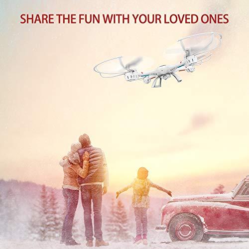 DBPOWER MJX X400W FPV Drohne mit WLAN Kamera Zurückkehrfunktion, Quadcopter mit Kopflosmodus für Kinder und Anfänger - 9
