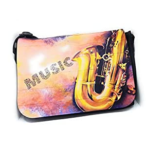 Notentasche Dokumententasche Schultasche - für Saxophon, gerne auch mit Namen personalisiert