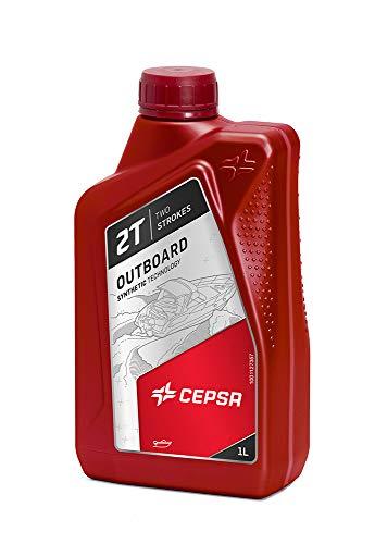 CEPSA 515364188 Mineralöl für Zweitakt-Außenbord-Motoren FUERABORDA 2T, 1 Liter -