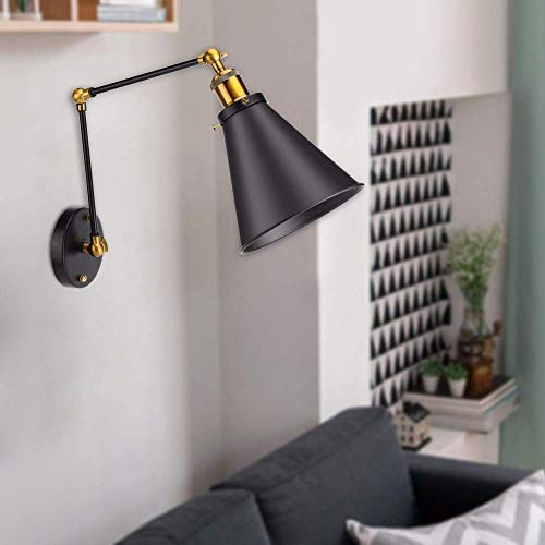 Loft Swing Arm (AiCheaX tools - Vintage Industrial Lampenschirm Lagerhalle Wandlampenabdeckung Loft Swing Arm Light Shade Lampenschirm Einstellbare Ambient Lighting Abdeckung)