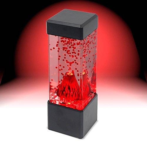 CrazySell Mini Volcano Desk Lamp Mesmerising LED Lights Relaxing Mood Lamp Light