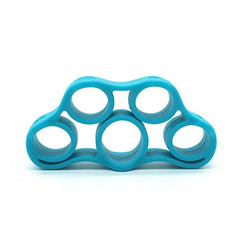 1PCS Hand Strength Grip Finger Stretcher–Strength Trainer For Golf Grip, Guitar Finger, der komfortable Exercise, Cycling, Climbing, PREVENTION AND Rehab, blau, 7.5 * 4 * 1.3cm (Grip Golf Trainer)
