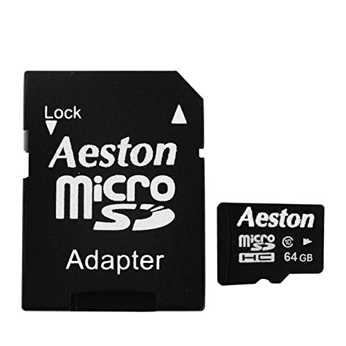 Aeston Micro SDHC UHS-1 Class 10 Memory Card with SD Adapter (64 GB)