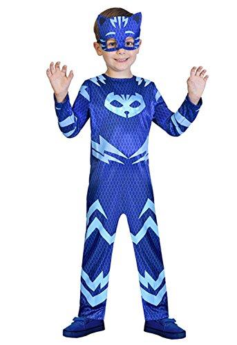 uperheld Kinder Kind catboy Fancy Kleid Kostüm & Maske (Childrens Fancy Kleider Kostüme)