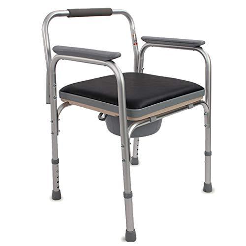 ZXXX Klappstuhl für Toiletten mit Armlehnen Kommode Drop Arm, Toilettenstuhl für Senioren -
