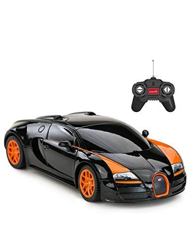 RC Sportwagen Bugatti Veyron Grand Sport Vitesse ferngesteuertes Auto 32cm Länge- Lenkrad Fernbedienung- Lizenziertes Modell