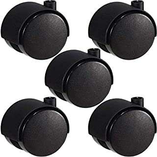 Set of 5-40mm twin-wheeled Castors