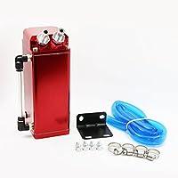 MODAUTO Depósito Aceite de Coche, Decantador de Aceite, Captura de Aceite de Motor, Aluminio Pulido, Cuadrado, Modelo E081RD, Color Rojo