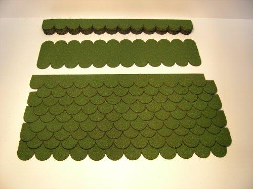 """Mini Dachschindeln Rund (41 mm) - Set - Grün für Vogelhaus """"23.403"""" Dachschindel"""