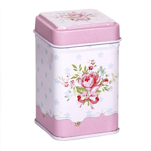 CARMANI - Jahrgang Rosen Inspiriert Sammlerstück Mini Metall Trinket Tobacco Süßigkeiten Zinn Schmuck Fall Münze Teebehälter Micro Schatz Aufbewahrungsbox mit Deckel -
