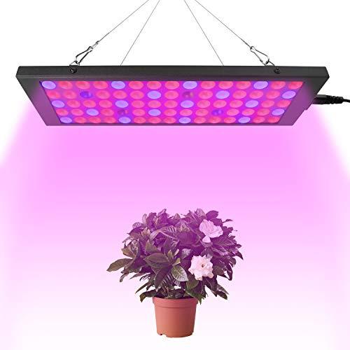 40W LED Pflanzenlampe Vollspektrum, FORNORM 75 LED Pflanzenleuchte Pflanzenlampe mit Rot Blau Licht IP44 Wachstumslampe für Pflanzen, 9900LM/ 725-735NM