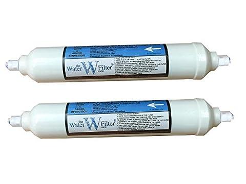 Kühlschrank Wasser Filter kompatibel GE, LG, Samsung, Daewoo, Bosch externer Inline Filter QuickFit pushfittings 2 Pack