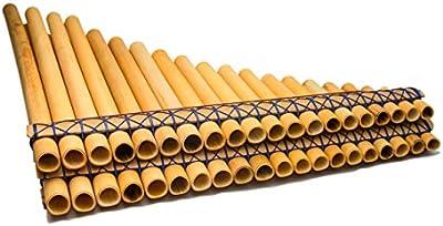 Zampona Cromatica de Bambu 40 Tubos con Bisel Ergonomicos