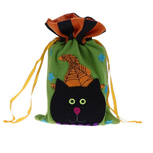 JUNERAIN Halloween Vliestuch Handtasche Kinder Kürbis Geschenk Zucker Kordelzug