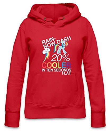 Rainbow Dash 20 % Cooler In Ten Seconds Flat Womens Hoodie X-Large