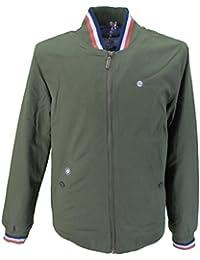 Lambretta Mens Moss Green 3 Tipped Monkey/Harrington Jackets