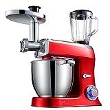 JHSHENGSHI Robot pâtissier,Robot de Cuisine pétrin Robot Batteur 3 en 1 Robot...