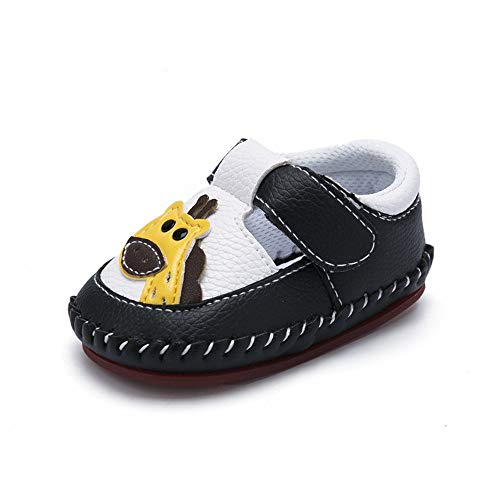 HsdsBebe Baby Boys Girls Pu Leather Hard Bottom Walking Sneakers Toddler Rubber Sole Fisrt Walkers Infant Cartoon Slippers Crib Shoes