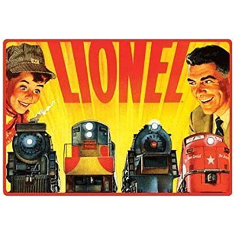 Lionel Trains Father and Son Retro Vintage Embossed Tin Sign by Poster Revolution