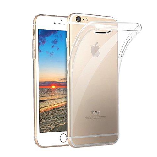 Hülle für iPhone 7 iPhone 8,NONZERS Handyhülle für iPhone 7 iPhone 8-Transparent und Kristallklar Kratzfest Shockproof Weiche Silikon Schutzhülle TPU Case