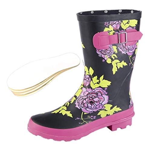 Woodland Ladies Wide Calf Wellies Wellington Boots Plus Extra Comfort Memory Foam Insoles