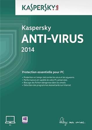 Kaspersky Anti-Virus 2014 - Monoposte - 2 ans [Téléchargement]