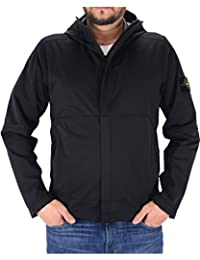 Stone Island Men's Jacket Light Soft Shell SI Check Grid Black Colour