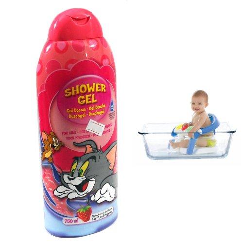 DUSCHGEL KINDER Tom & Jerry 750 ML STRAWBERRY befeuchtet SKIN HAIR 001 916