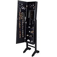 Generic pavimento Jewelry jewellry Cabinet Box Organizer Armoire W/Specchio <