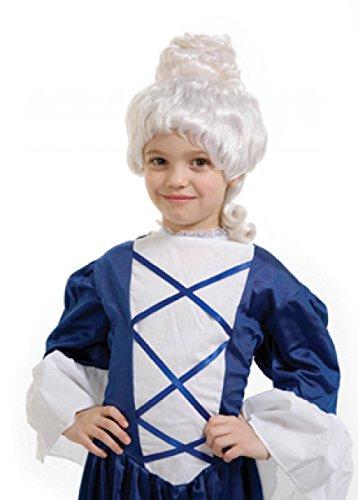 Qubeat parrucche bambini lungo bianco corrugato carnevale barocco