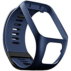 Fcostume Bracelet Silicone pour Montre Tomtom Adventurer/Runner 2 3 / Spark 3, Bracelet De Remplacement De Bracelet Tomtom Adventurer (Bleu Profond)