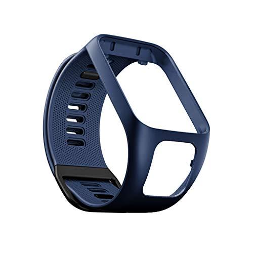 Cinhent Reemplazo de Correa de Reloj de Silicona Compatible con Tomtom Adventurer/Runner 2 3 / Spark 3 / etc Smartwatch Correa de Pulsera Pulsera