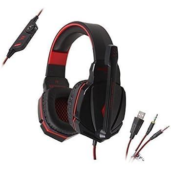 """""""AFUNTA di nuovo ogni 3,5 millimetri G4000 Stereo Plug Confortevole Gaming Cuffia con fascia di volume del Mic Control Professional per i giochi per PC -Nero"""