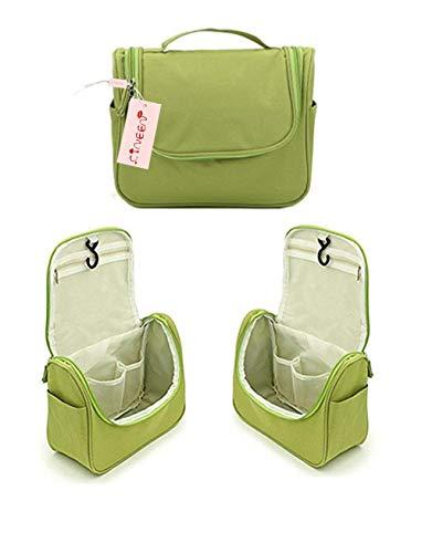 CINEEN Trousse/Organisateur/Sac de Toilette,Sac rangement Trousse cosmétique Organiser pour Vacance (Vert)