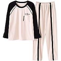 SALICEHB Pantalones De Algodón De Manga Larga para Damas Pijamas De Algodón Se Pueden Usar Trajes De Ropa Exterior 2018