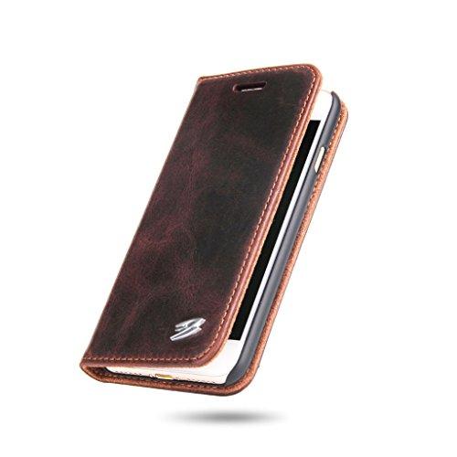 iPhone 7 Véritable Étui en Cuir,Careynoce Luxe Coque en Cuir Fait Main pour Apple iPhone 7 (4.7 pouces) -- Motif en cuivre (brun) M08