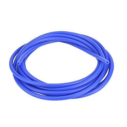 Qiilu Auto 4mm 5 Meter Silikon Vakuumschlauch Schlauch Rohr Silikonschlauch Universal(Blau)